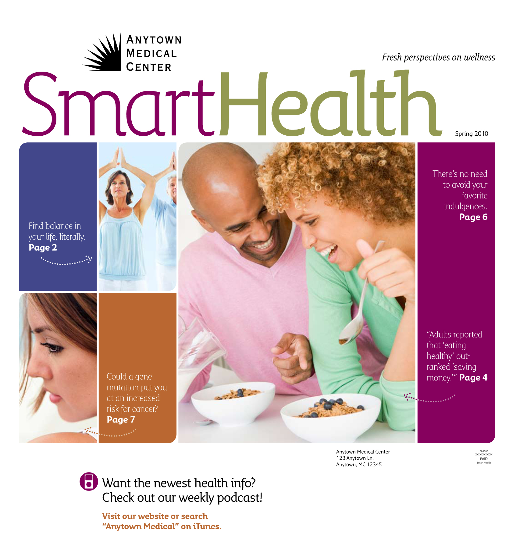 SmartHealth magazine refresh for 2010, cover | LH Portfolio Refresh Magazine