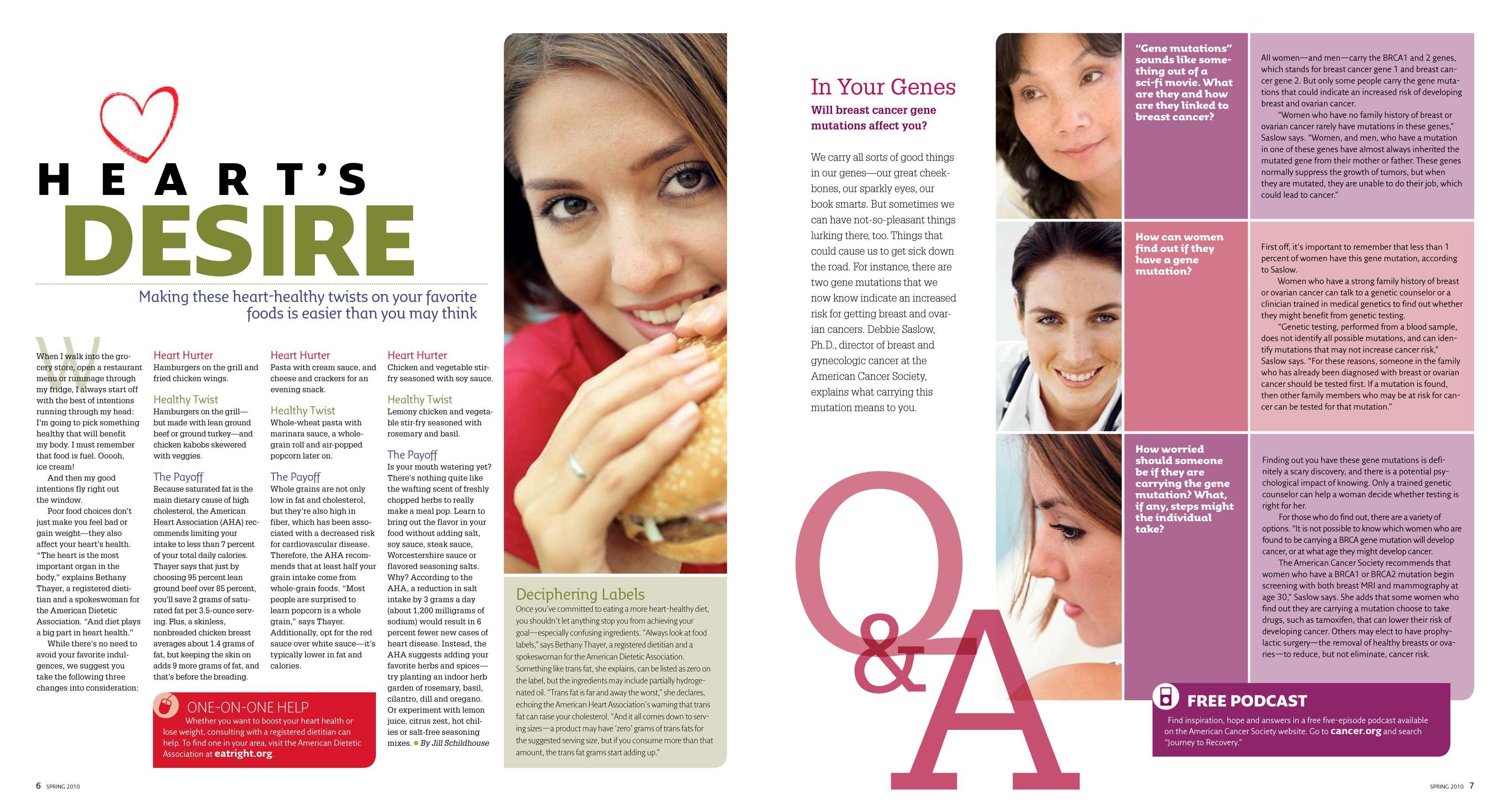 SmartHealth magazine refresh for 2010, page 6-7 | LH Portfolio Refresh Magazine